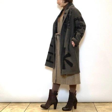 【C'EST MOJIEU/セモワージュ】テキスト柄コート