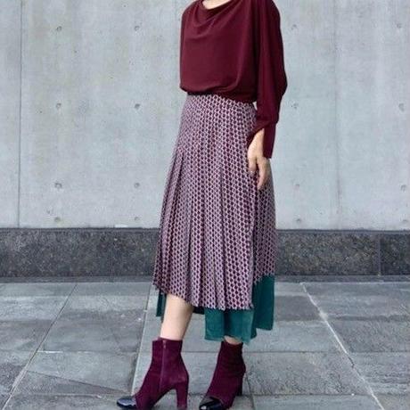 【Ritmo Latino/リトモラティーノ】裾切り替えのプリーツスカート