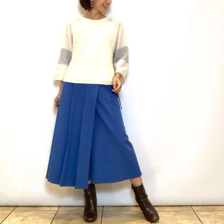 【CAPIS/カピス】巻きキュロットスカート