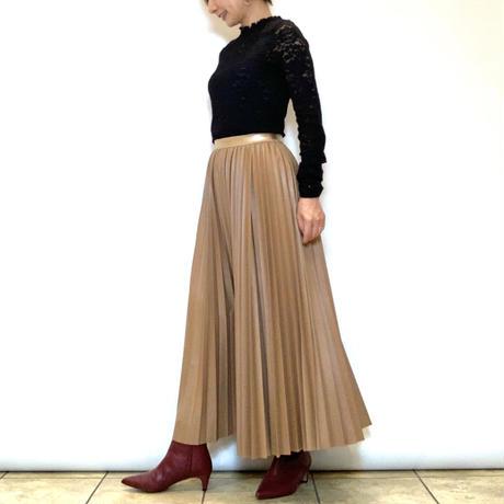 【PASSIONE/パシオーネ】フェイクレザープリーツスカート