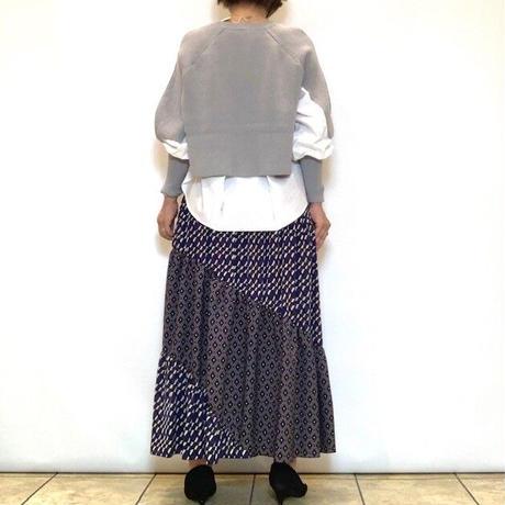 【CAPIS/カピス】プリント切り替えティアードスカート