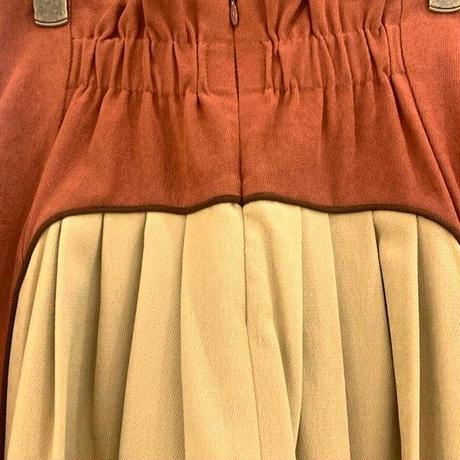 【Mia asterism/ミーアアステリズム】ツートーン切り替えハイウエストスカート
