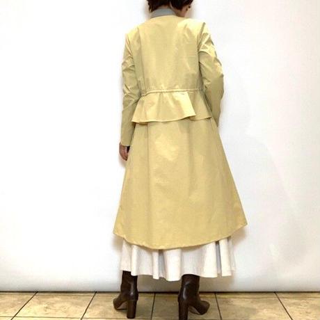 【NOUQUE/ヌーク】ウエストフリルのスプリングコート