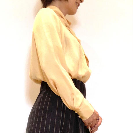 【ma couleur/マクルール】サテンボウタイブラウス