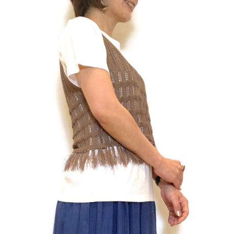 【BEATRICE/ベアトリス】ニットベスト付きカットソー