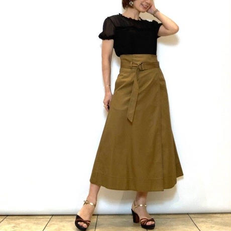 【PASSIONE/パシオーネ】ハイウエスト巻きスカート