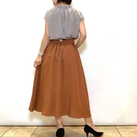 【FIGNO/フィグノ】ウエストシャーリングの麻混スカート