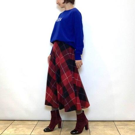 【FIGNO/フィグノ】ブロックチェックのフレアスカート