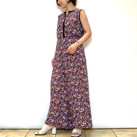 【CAPIS/カピス】小花柄プリントイージーパンツ