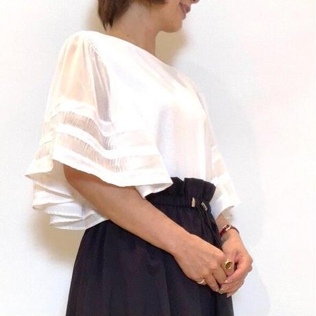 【Nouque/ヌーク】シースルーフレアスリーブカットソー