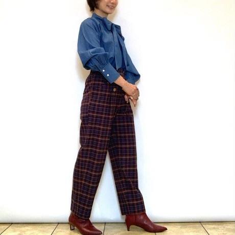 【Coomb/クーム】ハイウエストチェックパンツ