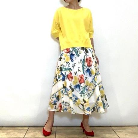 【FIGNO/フィグノ】スカーフ柄のフレアースカート