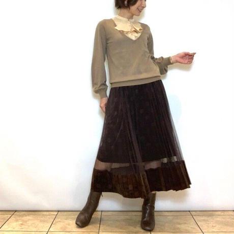 【Mia Asterism/ミーアアステリズム】ベロアドットのチュールスカート