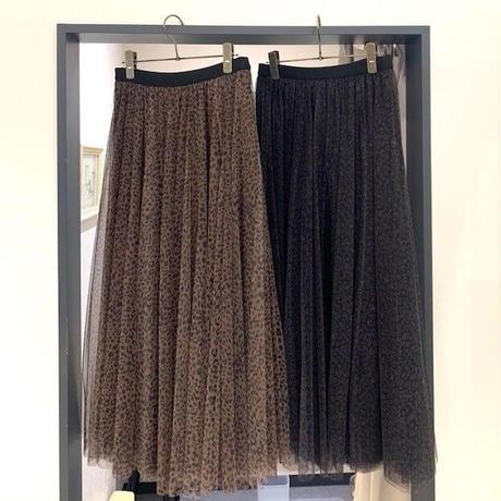 【BEATRICE/ベアトリス】レオパード柄チュールスカート