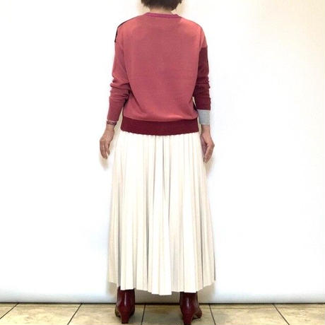 【PLUS PLUS/プラスプラス】レザー調プリーツスカート