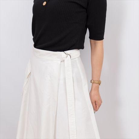 【Brahmin/ブラーミン】アシンメトリーの巻きスカート