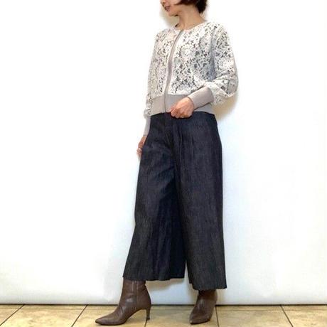 【B7/ベーセッツ】デニムガウチョパンツ