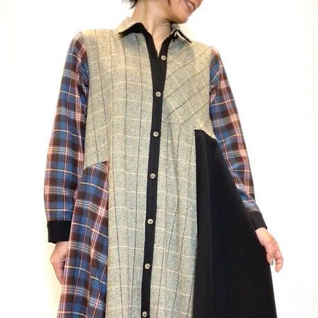 【BEATRICE/ベアトリス】チェック切り替えのシャツワンピース