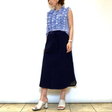【Priority/プライオリティ】ラウンドヘムスウェットスカート