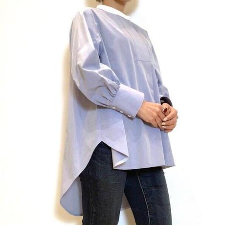 【Apaiser lame/アペゼラム】バンドカラーシャツ