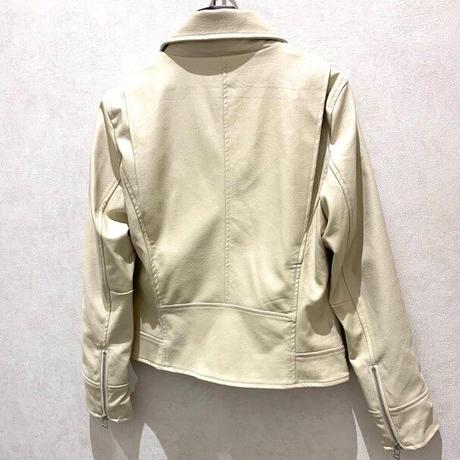 【BEATRICE/ベアトリス】フェイクレザーライダースジャケット