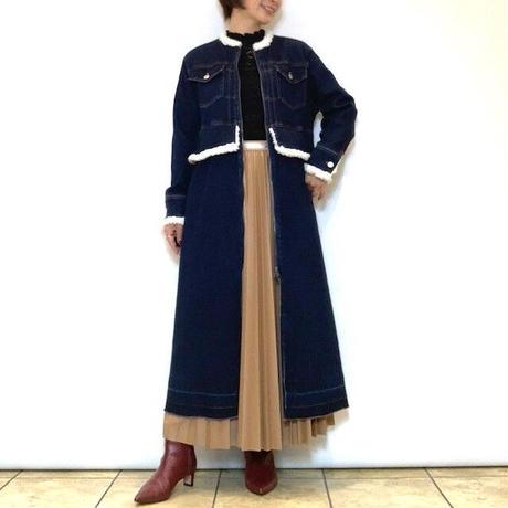 【Mia asterism/ミーアアステリズム】ボア付きデニムコート