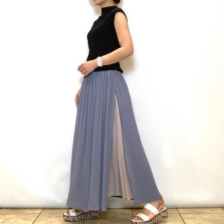 【MARECHAL TERRE/マルシャルテル】スリットプリーツスカート