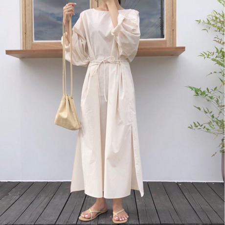 natural long dress