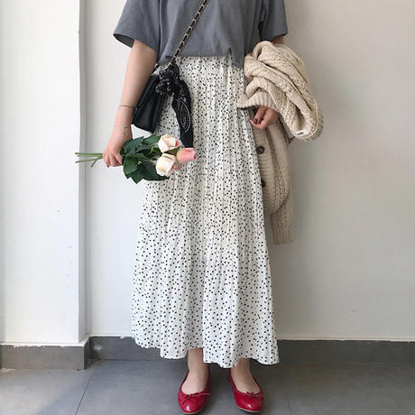 【再入荷】chiffon long skirt