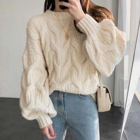 fluffy snow knit