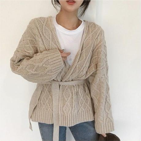 【 1/3~再入荷 】knit gown cardian