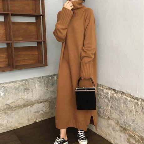 【 2/3 - 再入荷 】knit long dress