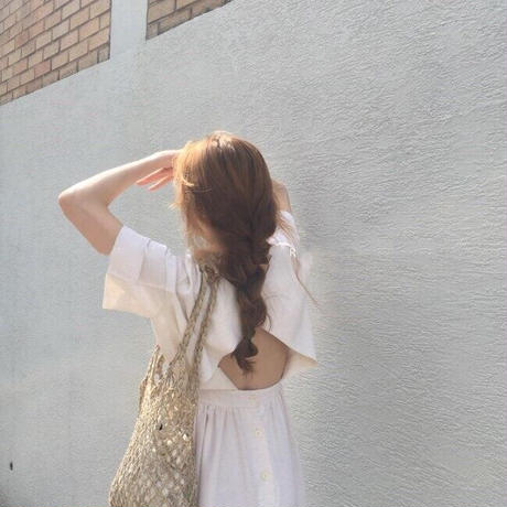 【再入荷】lady backless dress