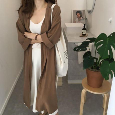 【再入荷】lady long shirts dress