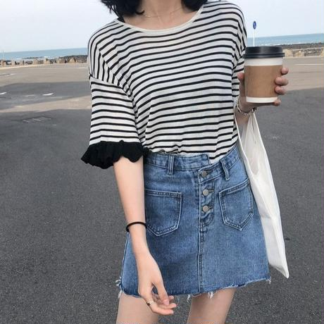 casual frill tops