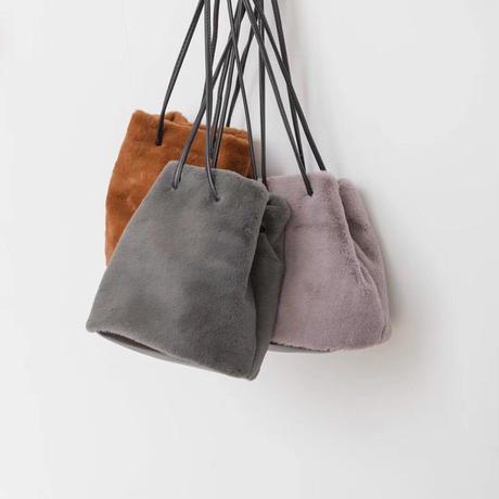 fur drawstring bag