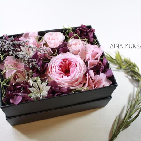 母の日期間限定[Flower Box Ⅿsize]PINK/プリザーブドフラワー