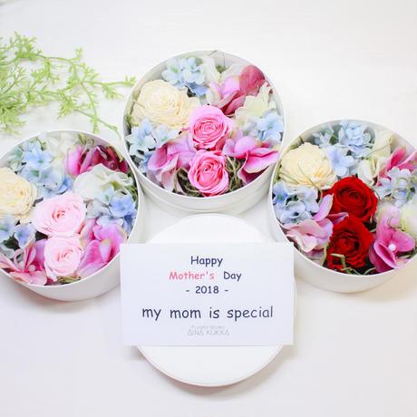母の日[Flower Box  Ssize]プリザーブドフラワー×アーティフィシャルフラワー