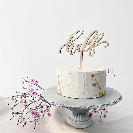 ケーキトッパー  -half-