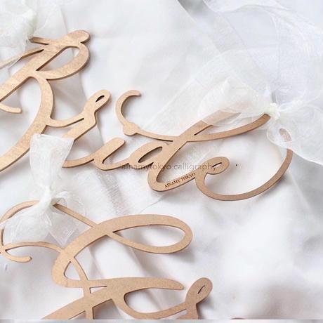 モダンカリグラフィー/結婚式/チェアサイン -GROOM & BRIDE-