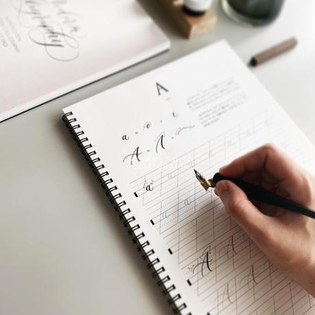 モダンカリグラフィー練習帳  ビギナーズバック