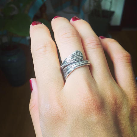 カレンシルバー leaf ring