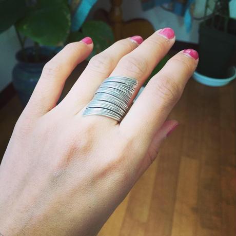 カレンシルバーwing ring