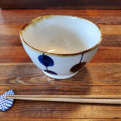 藍ブルー 丼ぶり 一珍水玉紋