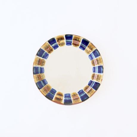 藍ブルー 18cmプレート 十草紋