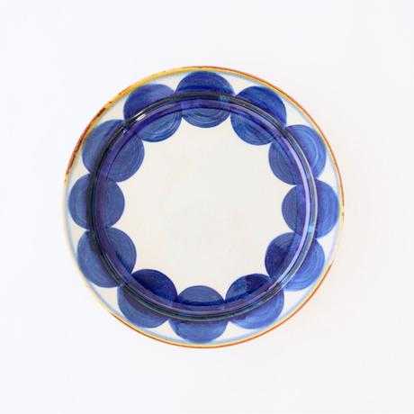 藍ブルー 24cmプレート 丸紋