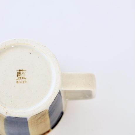 藍ブルー マグカップ 十草紋