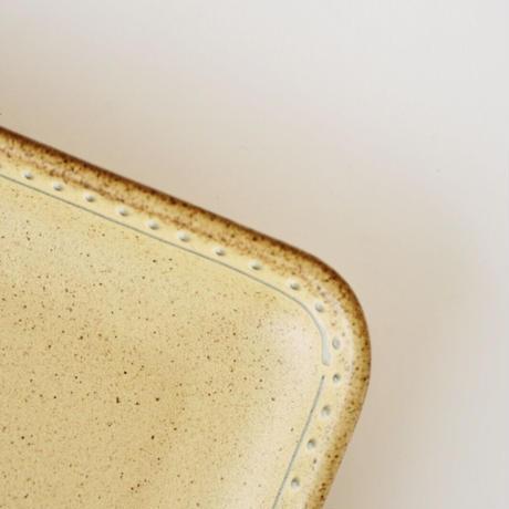 ブロンズ 正角皿 黄銅