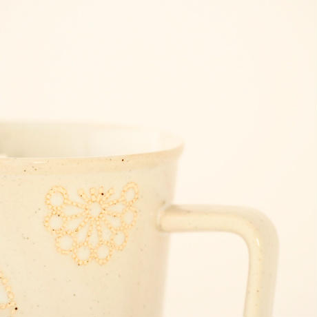 ステッチ マグカップ ホワイト