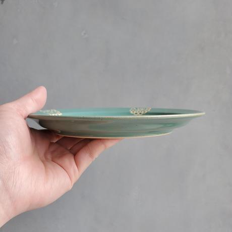 ステッチ 18cmプレート ミントグリーン